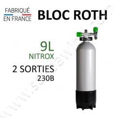 Bloc de 9L Nitrox - 2 sorties