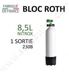 Bloc de 8,5L Nitrox - 1 sortie