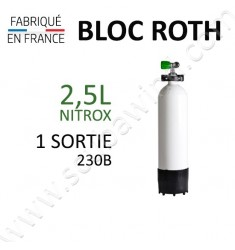 Bloc de 2,5L Nitrox - 1 sortie