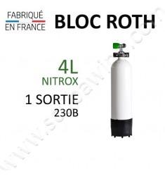 Bloc de 4L Nitrox - 1 sortie