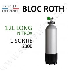 Bloc de 12L Long Nitrox - 230B - 1 sortie