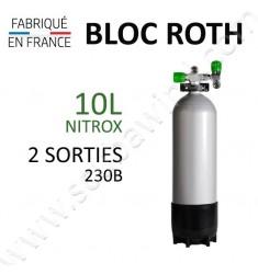 Bloc de 10L Nitrox - 230B - 2 sorties