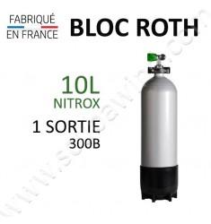 Bloc de 10L Nitrox - 300B - 1 sortie