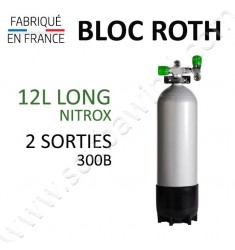Bloc de 12L Long Nitrox - 300B - 2 sorties