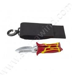 Cisaille SK1 avec couteau à lame pointue et étui