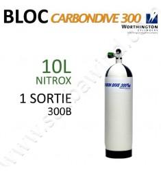 Bloc Carbon de 10L Nitrox - 300B - 1 sortie