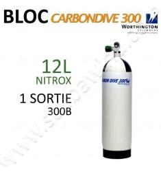 Bloc Carbon de 12L Nitrox - 300B - 1 sortie