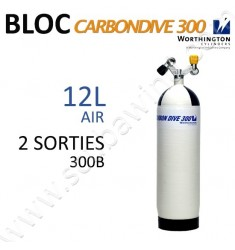 Bloc Carbon de 12L Air - 300B - 2 sorties