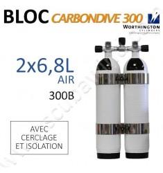 Bi-bloc Carbon de 6,8L avec cerclage et isolation - Air - 300B