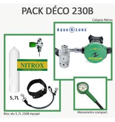 Pack Déco 230B  : Bloc Alu 5,7L équipé + Calypso Nitrox + Manomètre