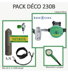 Pack Déco 300B : Bloc Alu 5,7L équipé + Calypso Nitrox + Manomètre