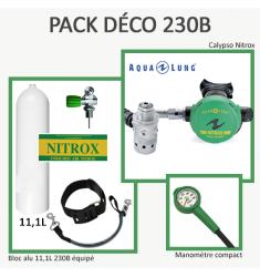 Pack Déco 230B : Bloc Alu 11L équipé + Calypso Nitrox + Manomètre