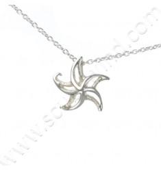 Collier en argent avec pendentif Étoile de mer