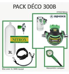 Pack Déco 300B : Bloc 3L équipé + XTX50 Nitrox + Manomètre