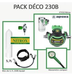 Pack Déco 230B : Bloc Alu 5,7L équipé + XTX50 Nitrox + Manomètre