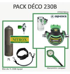 Pack Déco 230B : Bloc Alu 7L équipé + XTX50 Nitrox + Manomètre