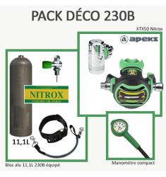 Pack Déco 230B : Bloc Alu 11L équipé + XTX50 Nitrox + Manomètre