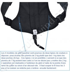 Baudrier Easyback avec 6 poches vides