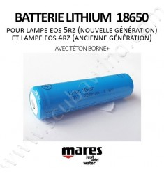 Batterie Lithium 18650 (avec téton borne+)