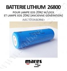 Batterie Lithium 26800 (avec téton borne+)