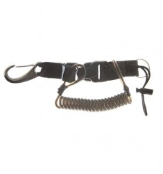 Mousqueton tire bouchon, câble inox + mousqueton 70mm