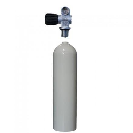 Bouteille aluminium 11,1L - Robinet 1 sortie extensible