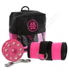Pack sécurité rose (Parachute + dévidoir)
