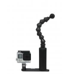 Platine + bras Flexo simple pour Gopro & mini caméra